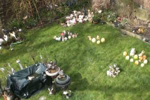 Ostern im Garten bei irgendwem im Ruhrgebiet